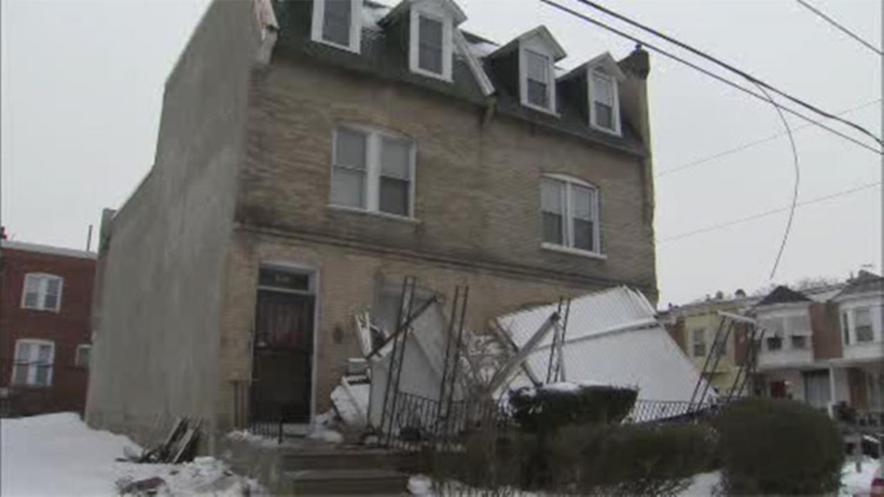 Porch rooftop collapses in West Philadelphia