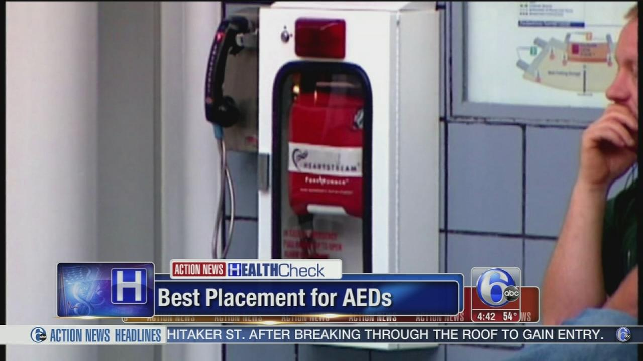 What are best spots for life-saving AEDs?