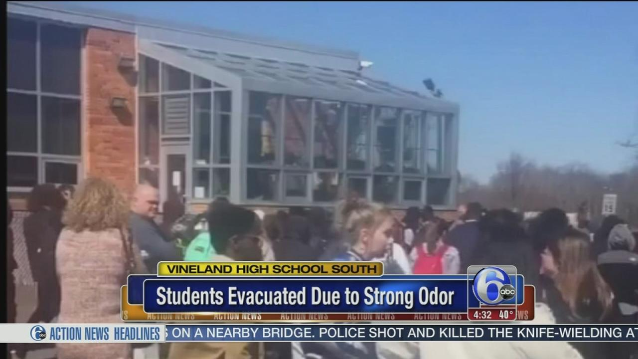 Vineland High School South evacuated due to strong odor