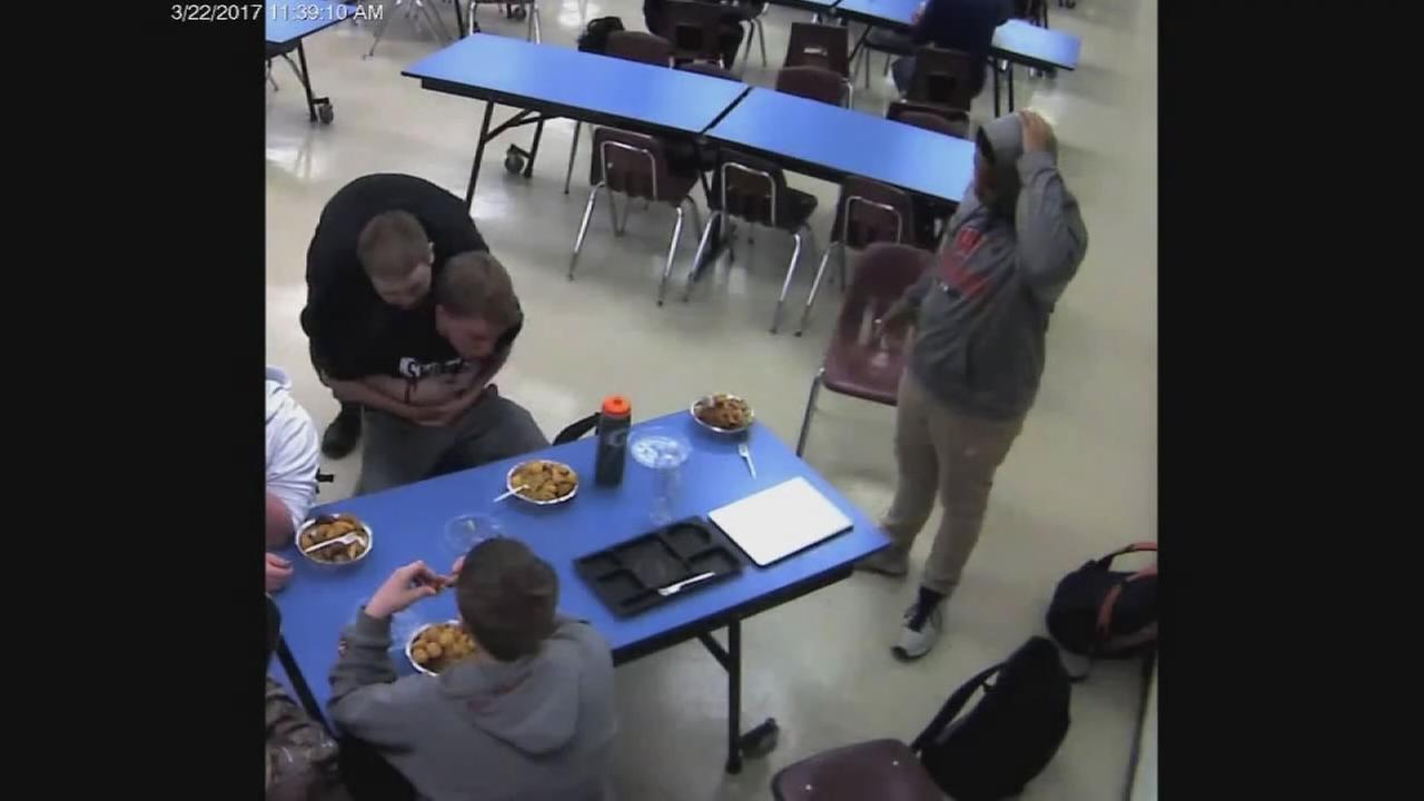 Student trained by police saves choking classmate