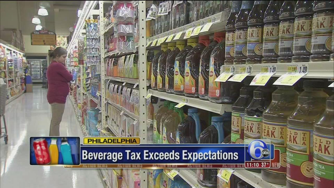 Phillys soda tax slightly exceeds $6.3M February projection