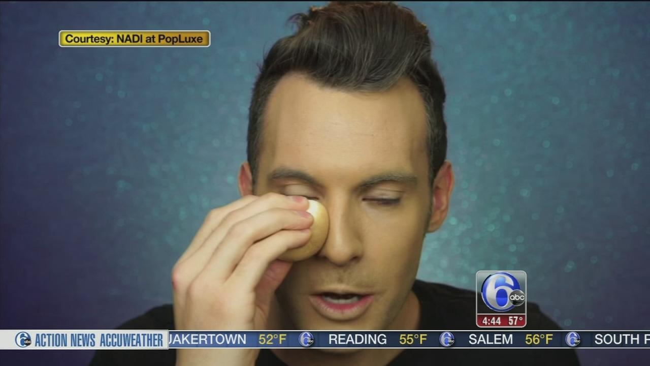 Makeup artist uses hard boiled egg as beauty blender
