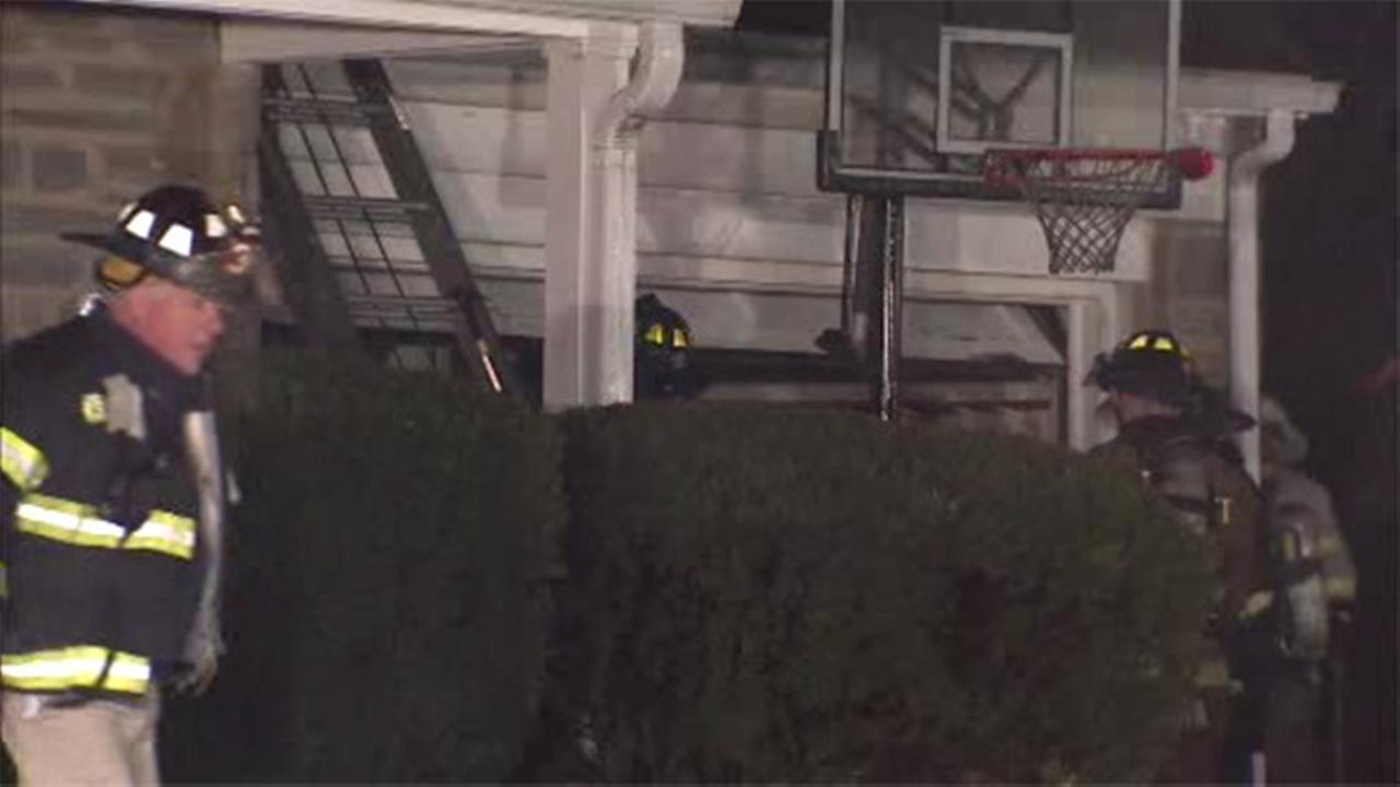 Firefighters battle 2-alarm house blaze in Havertown