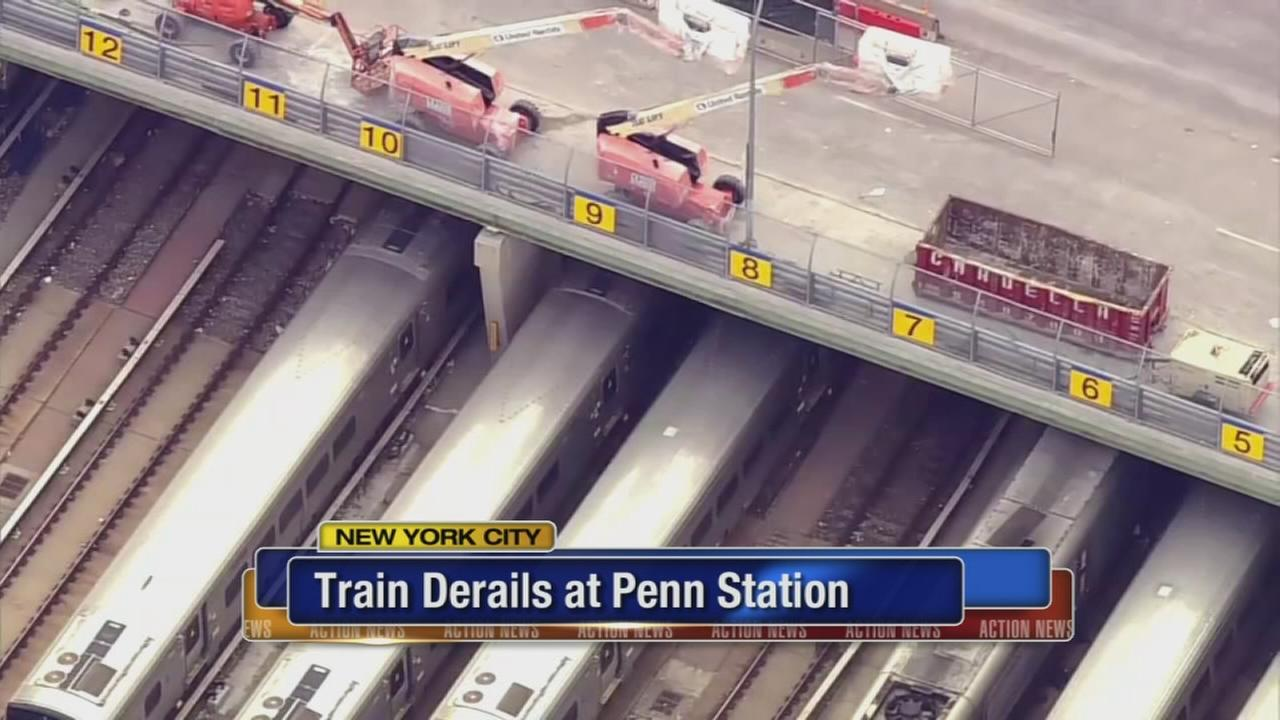Derailment at Penn Station in NYC