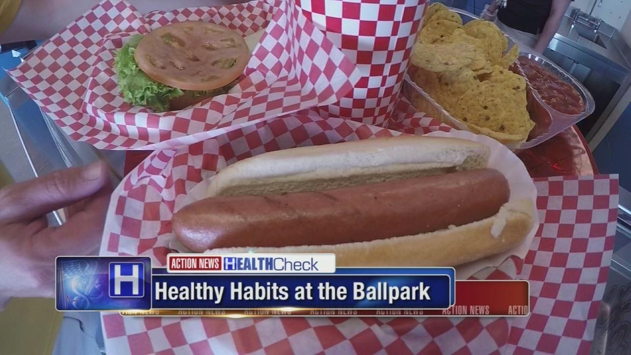 Eating healthy while at baseball park