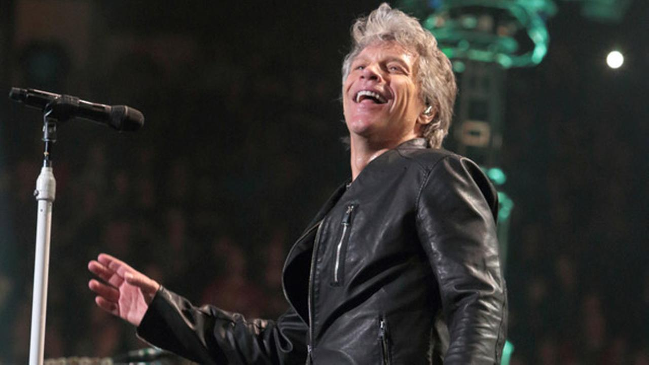 Jon Bon Jovi of the band Bon Jovi performs in concert during their This House Is Not for Sale Tour at The Wells Fargo Center on Friday, March 31, 2017, in Philadelphia.