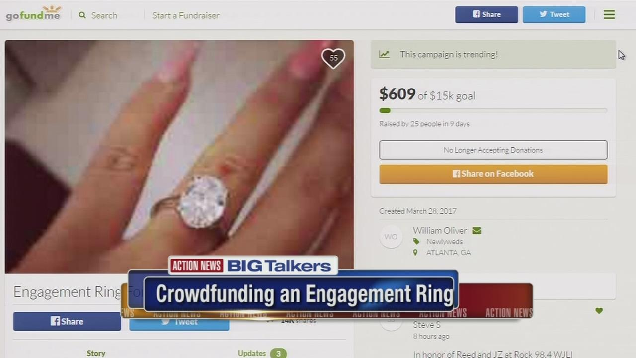 Georgia man crowdfunds for engagement ring