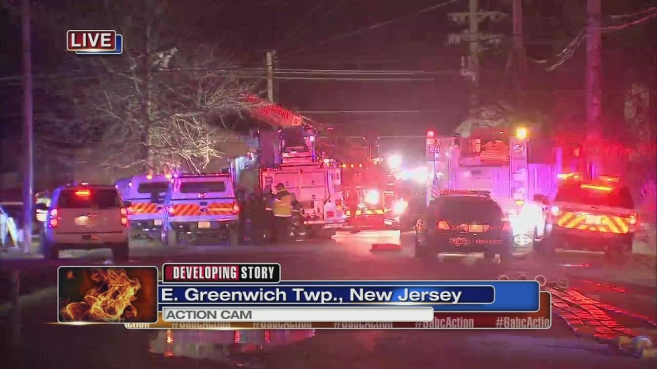 Fire in East Greenwich Twp., NJ