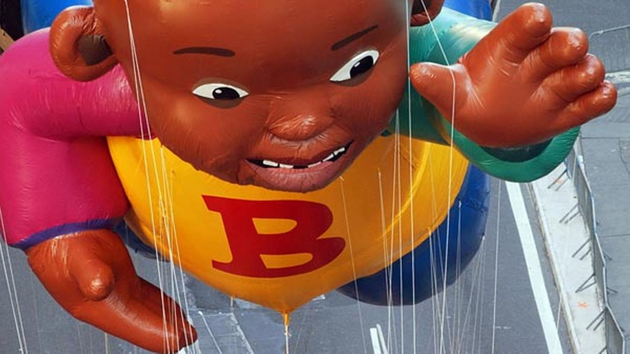 Little Bill, based on Bill Cosbys Little Bill book series, makes his debut on Broadway in the 76th annual Macys Thanksgiving Day Parade in New York, Thursday, Nov. 28, 2002.