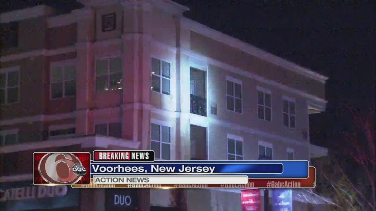 Fire damages apartments in Voorhees