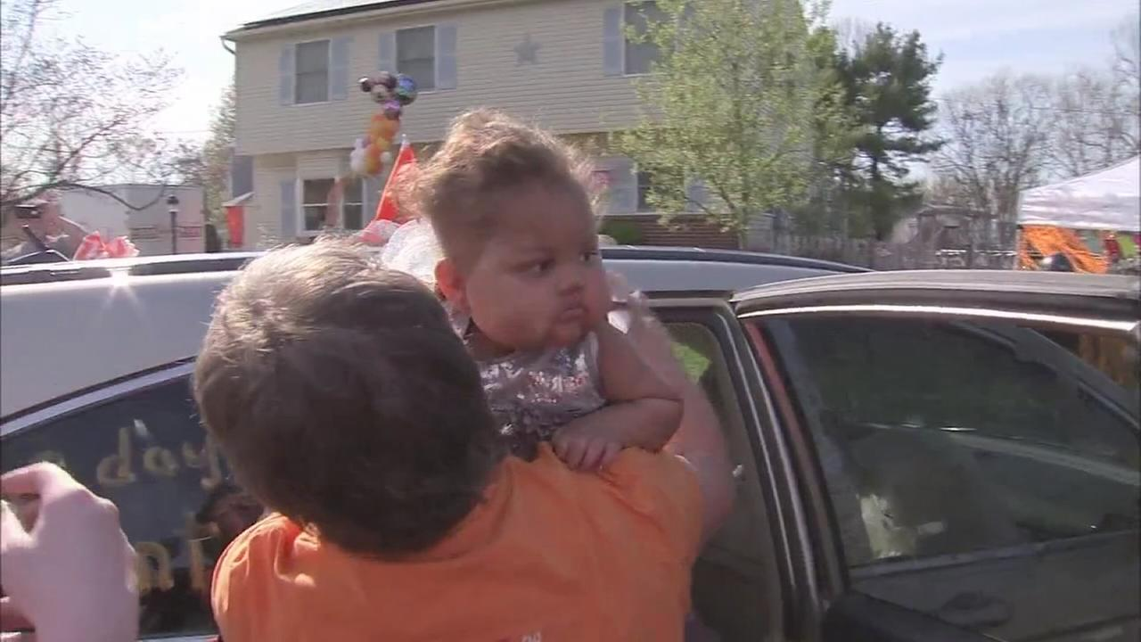VIDEO: Surprise homecoming for little girl battling cancer