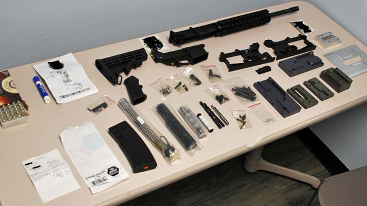 Police: NJ teen found with parts for semi-automatic rifle