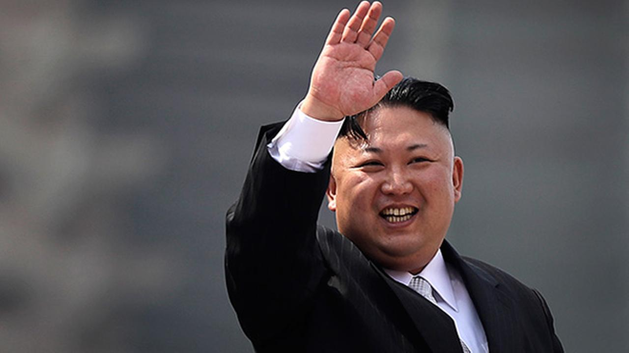 North Korean leader Kim Jong Un waves during a military parade on Saturday, April 15, 2017, in Pyongyang, North Korea, to celebrate the 105th birth anniversary of Kim Il Sung.