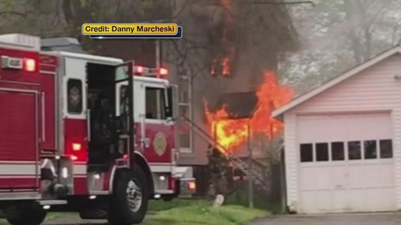 VIDEO: Church damaged by fire in Boothwyn, Pa.