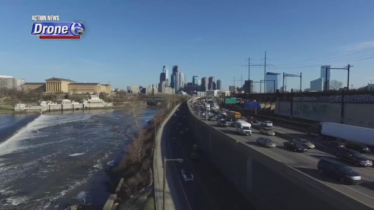 VIDEO: Drone 6 over MLK Drive in Philadelphia