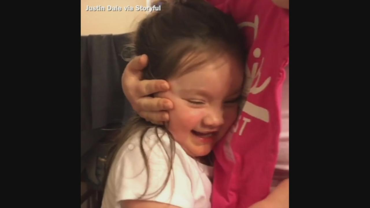 VIDEO: Little girl learns she is going to be a big sister