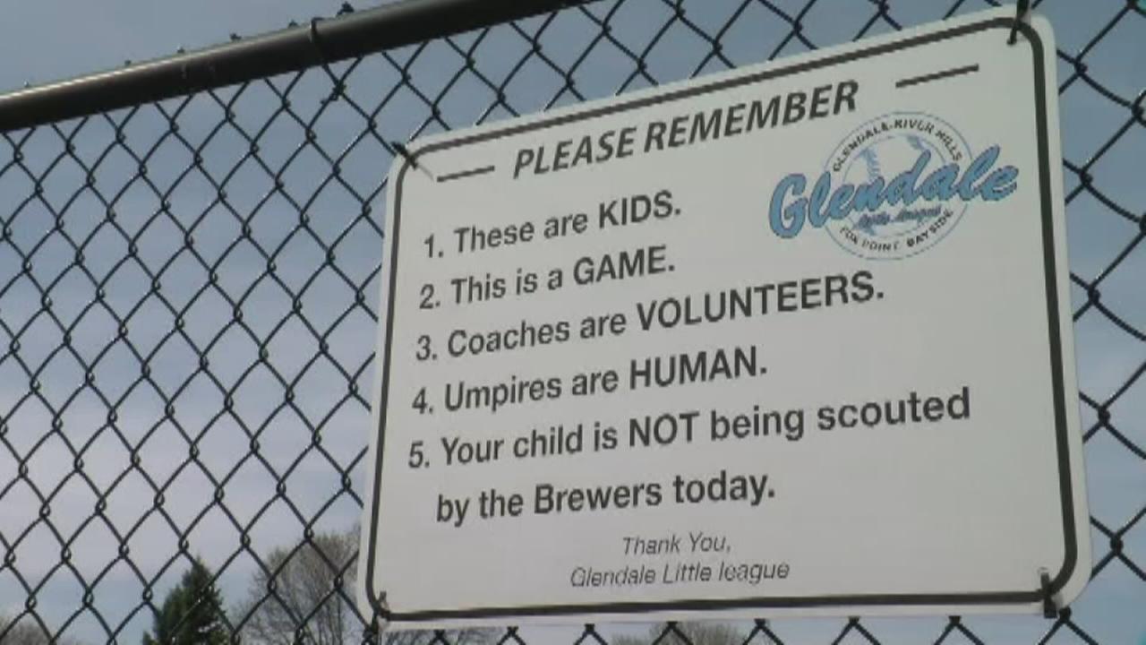 VIDEO: Little league sign gives parents a reality check