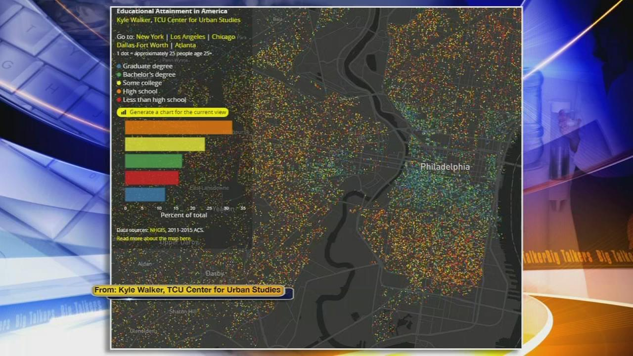 Interactive map reveals education level of your neighborhood