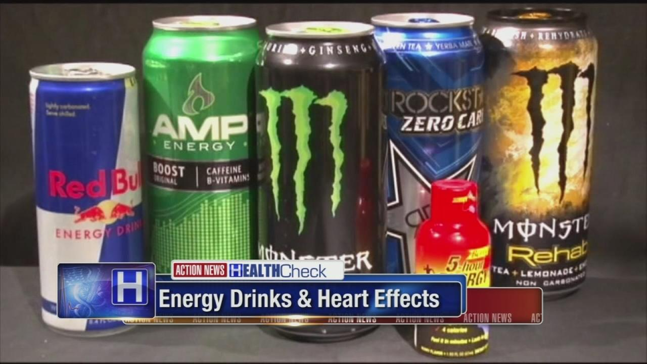 Energy drinks and heart effects