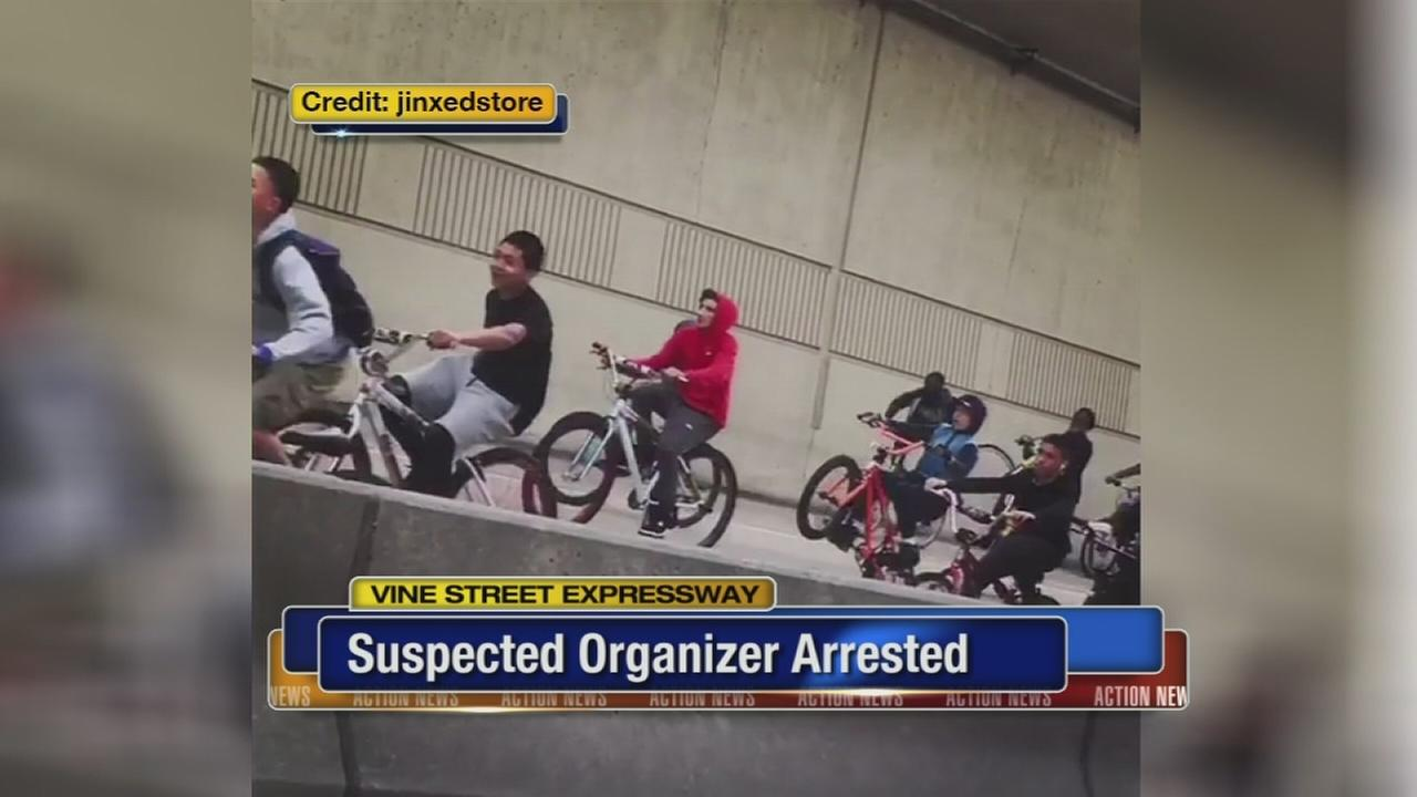 Police charge boy for organizing Vine Street bicyclists