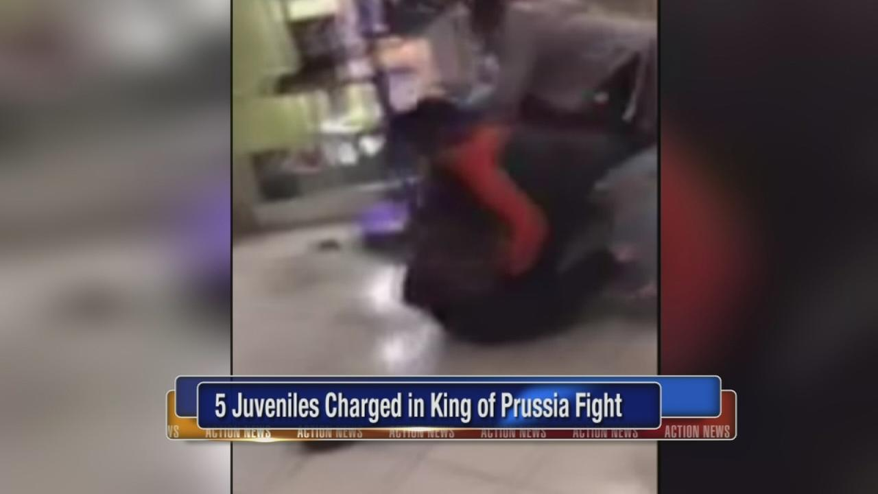 5 charged over fight at King of Prussia Mall