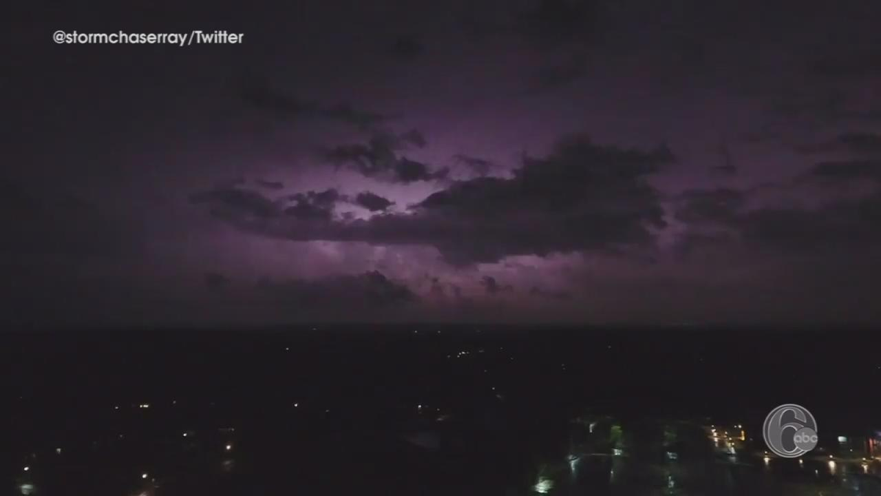VIDEO: Drone captures images of storm from Bucks Co.