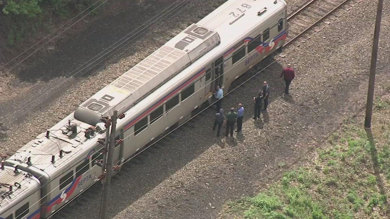 Raw video: Person hit by SEPTA train in Bristol, Pa.