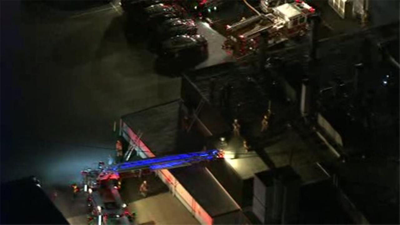 Flames erupt inside graphic building in Bucks County
