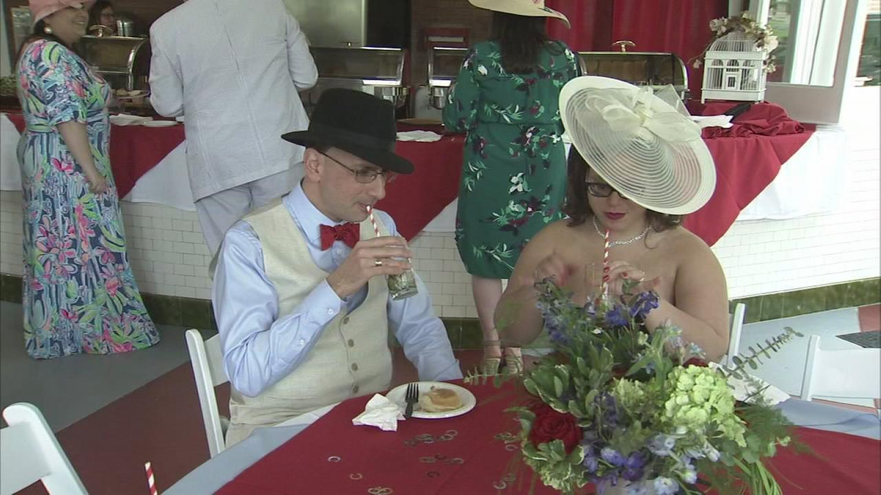 Party goers celebrate the Kentucky Derby in Montco