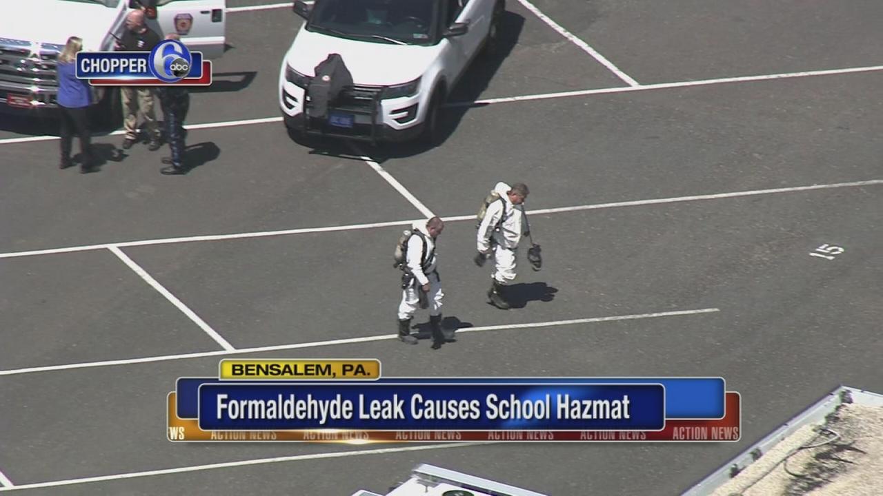Bensalem High evacuated after formaldehyde leak