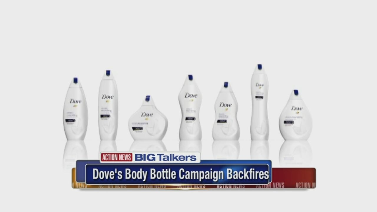 New Dove body wash bottles evoke womens body shapes, spark backlash