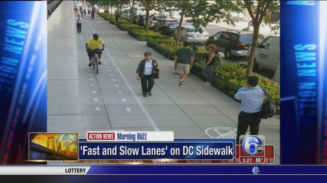 VIDEO: Pedestrians choose no cellphones or cellphones lanes in DC