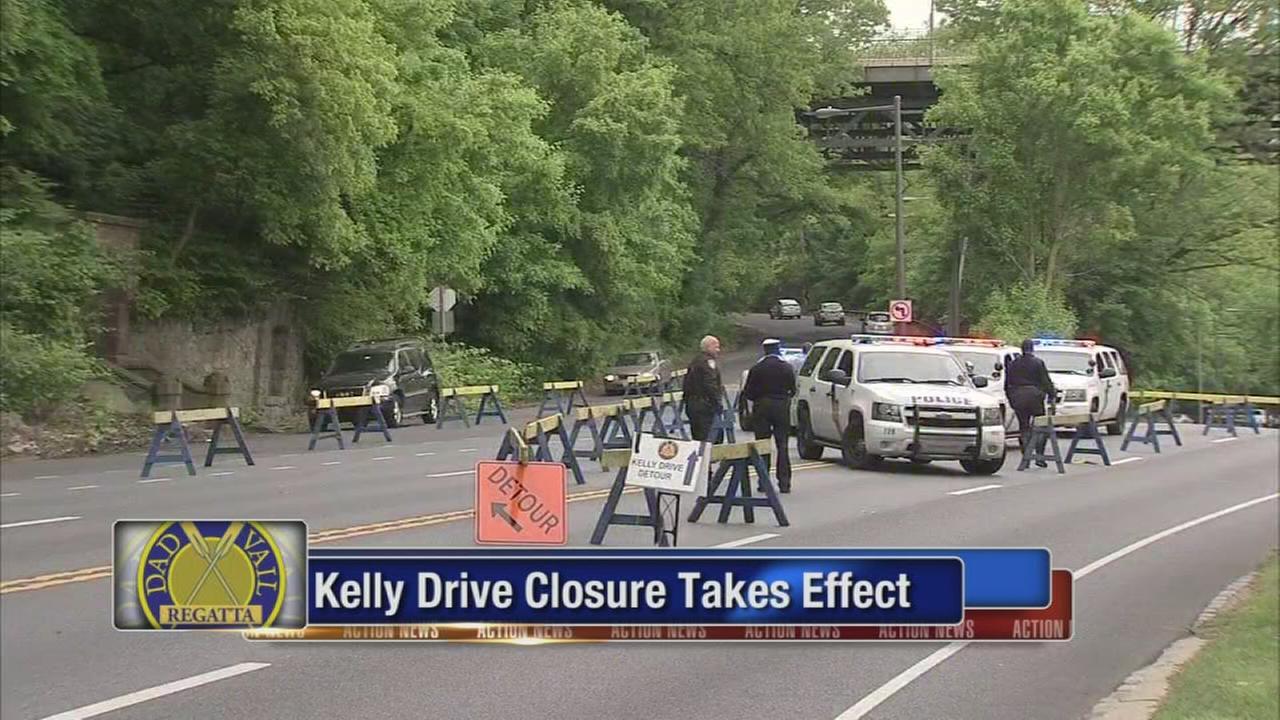 Kelly Drive closes for Dad Vail Regatta