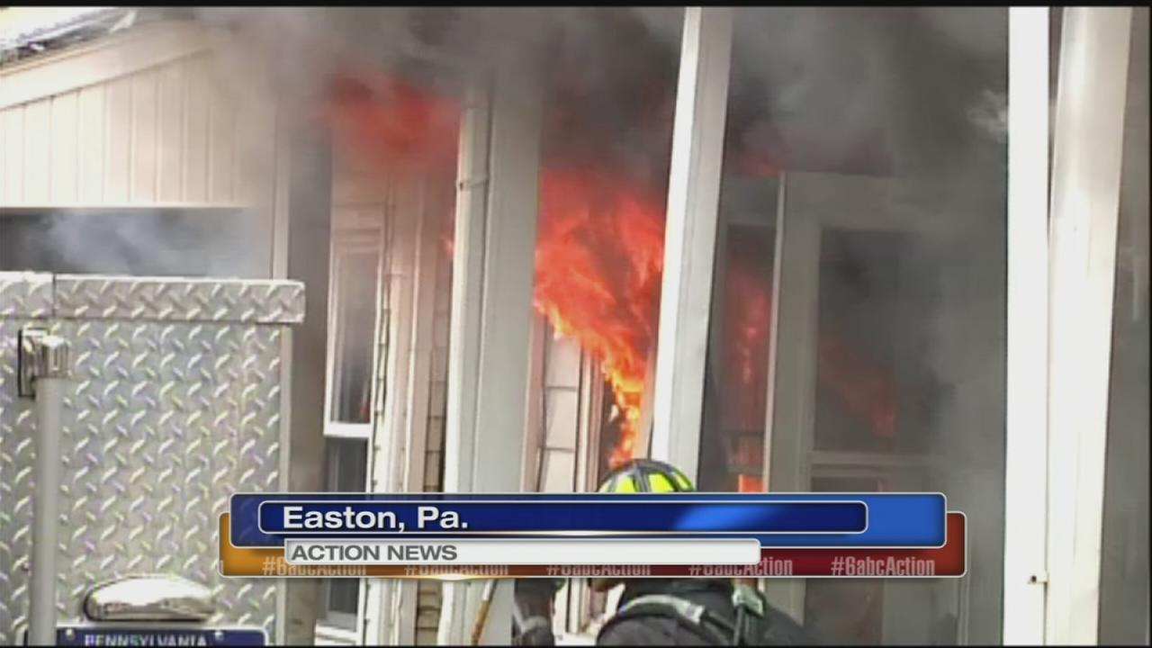 Fire forces 12 people from their homes
