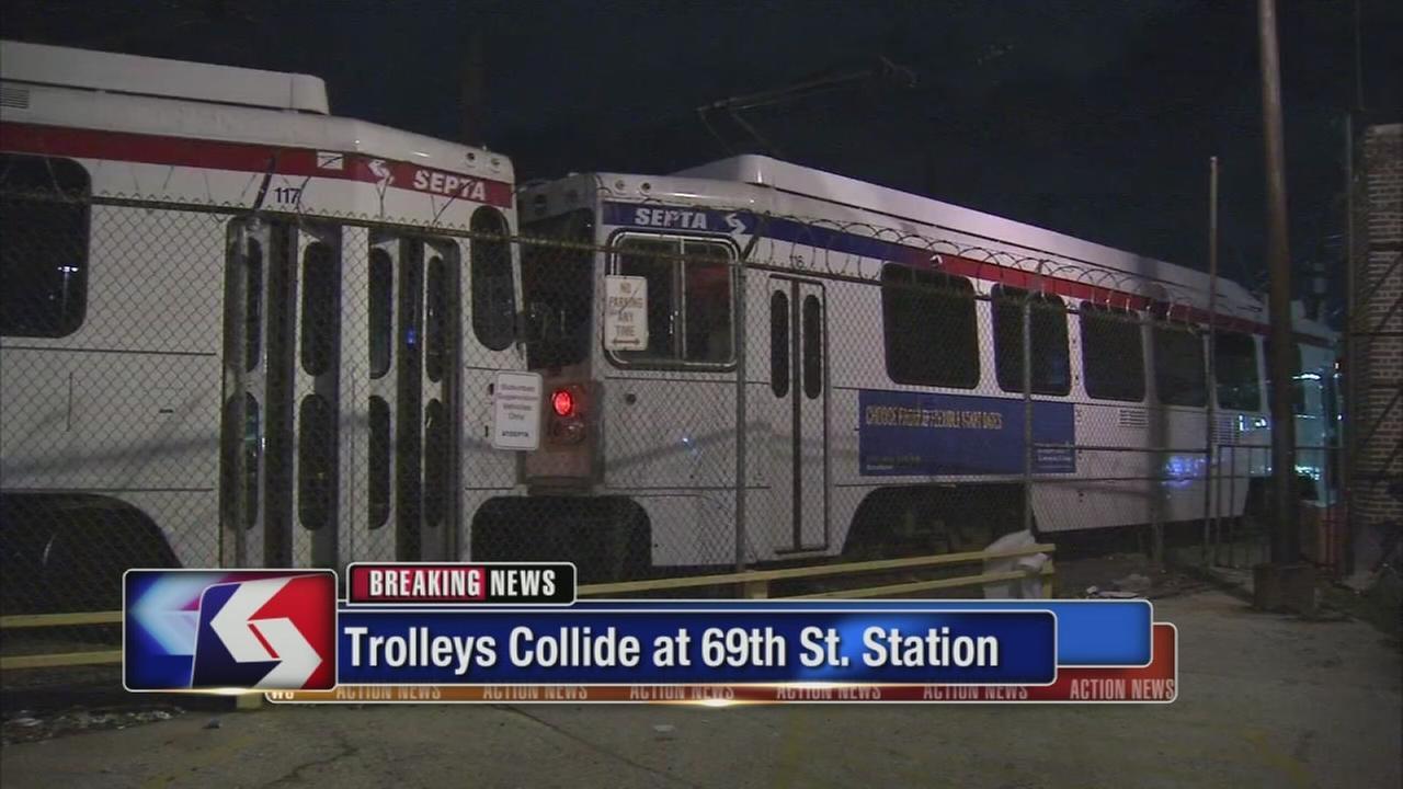 Trolleys collide in Upper Darby