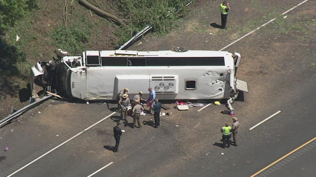 RAW VIDEO: Bus crash on I-95 in Maryland