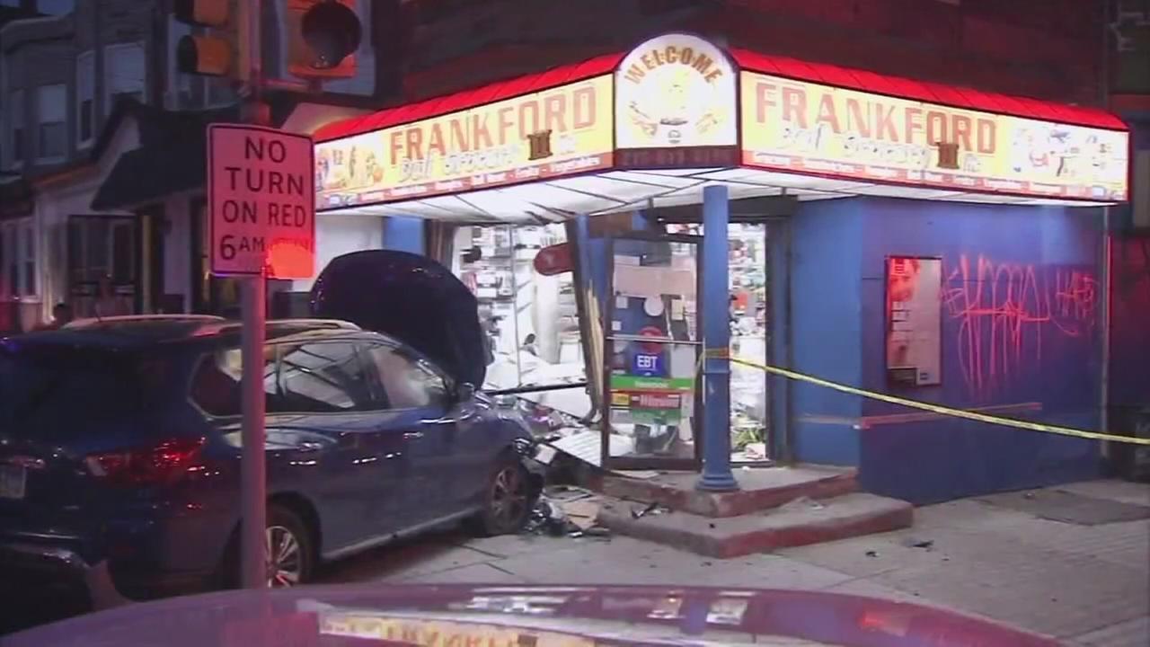 Stolen SUV crashes into store