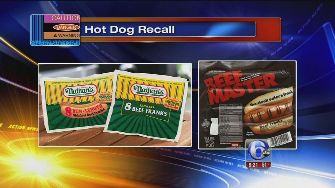 Hot dogs recalled after metal objects found inside