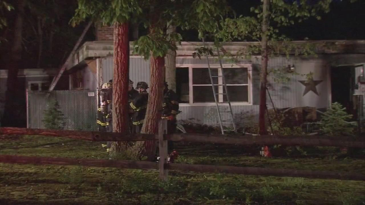 Fire damages home in Burlco