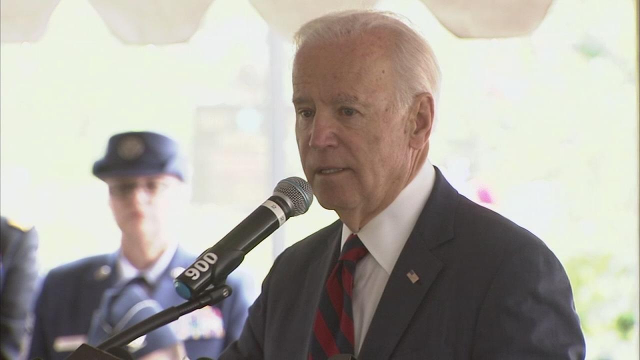Joe Biden attends Memorial Day ceremony in Delaware