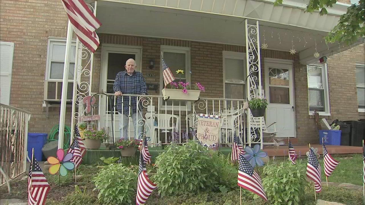 Veteran receives garden make-over surprise after vandalism