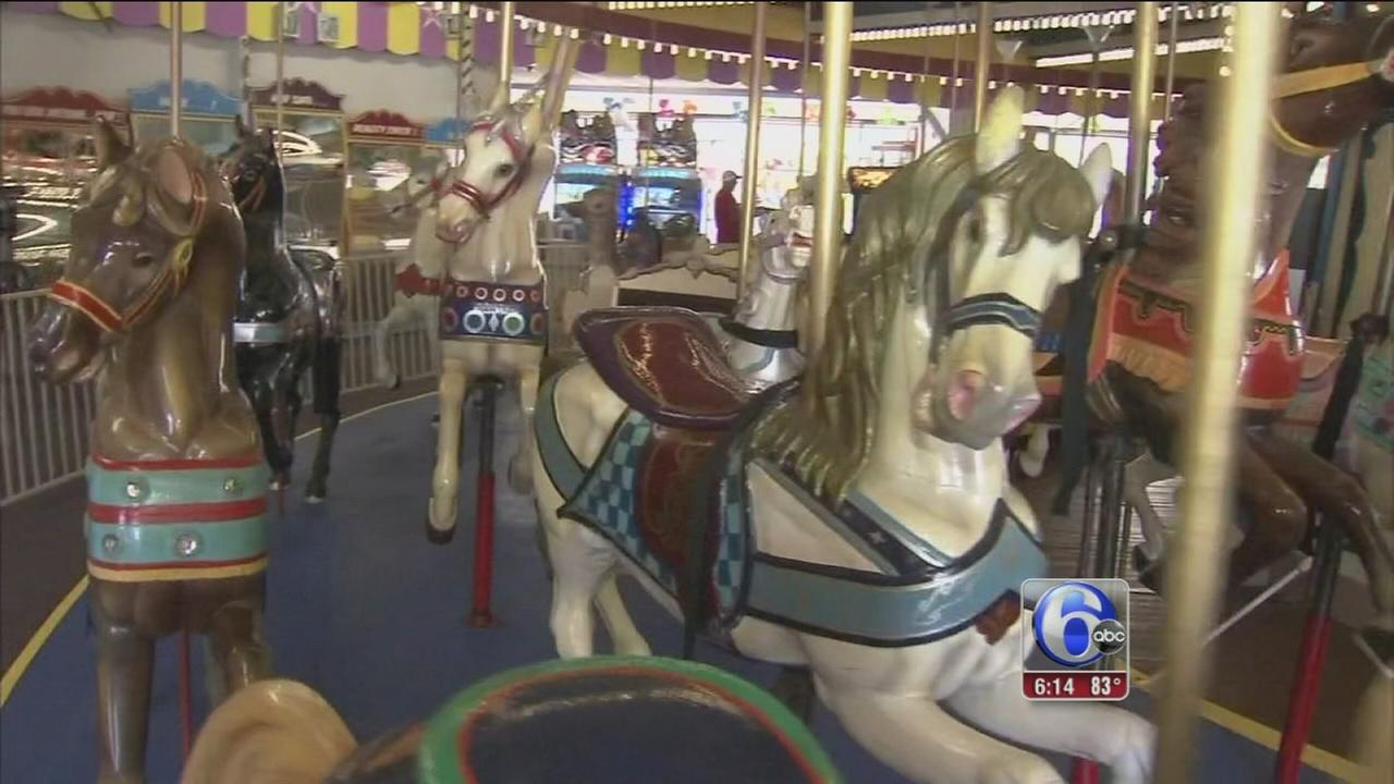 VIDEO: Jersey shore carousel up for auction