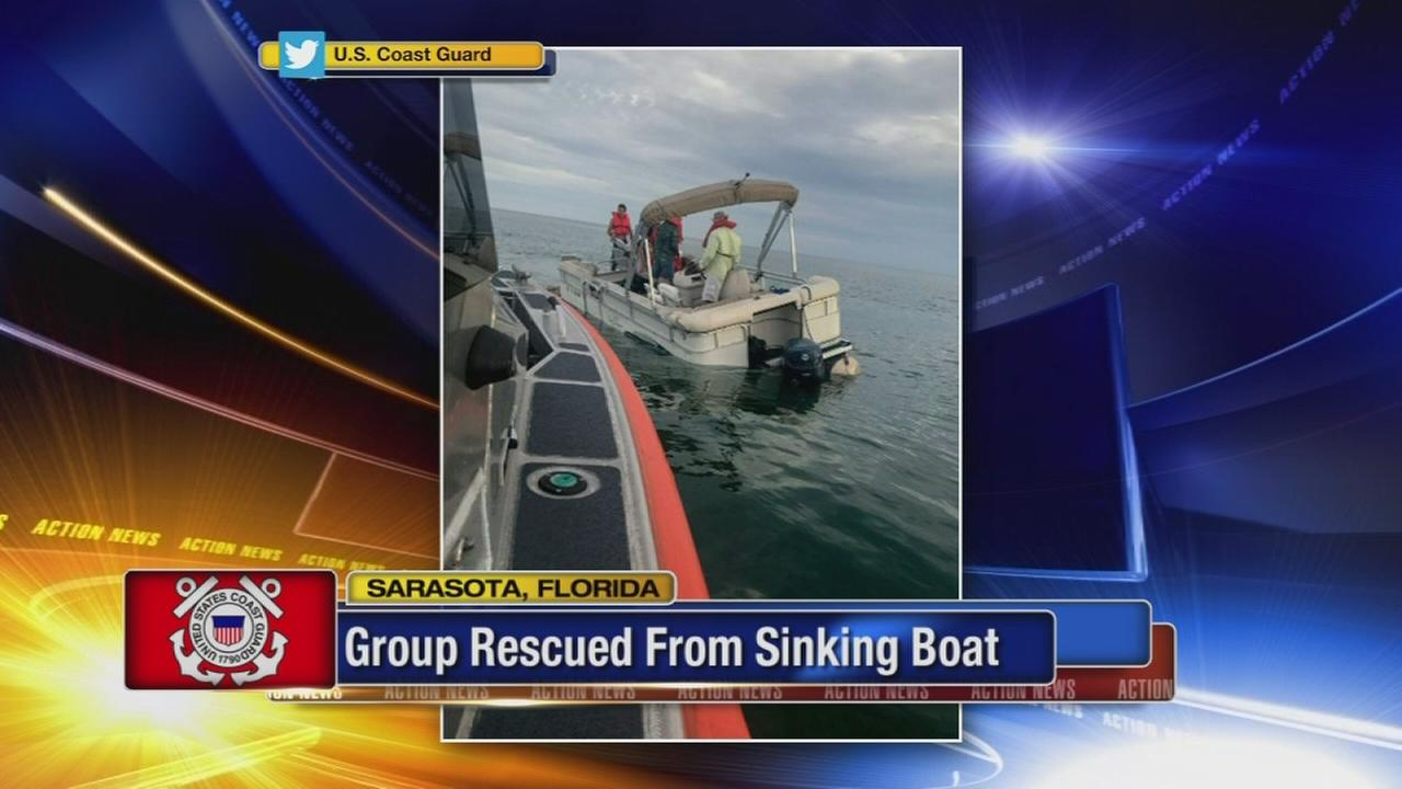 Coast Guard rescues group from sinking boat