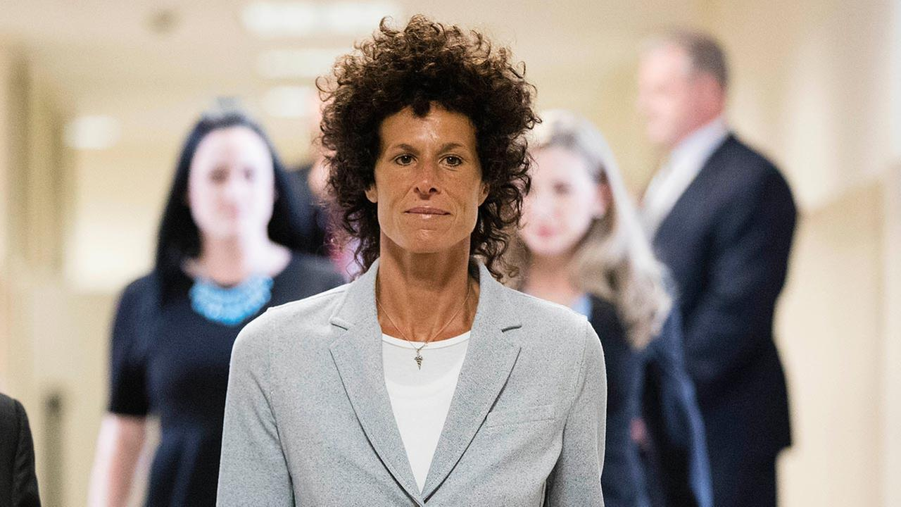 Andrea Constand walks to the courtroom during Bill Cosbys sexual assault trial at the Montgomery County Courthouse in Norristown, Pa., June 6, 2017. (AP Photo/Matt Rourke)