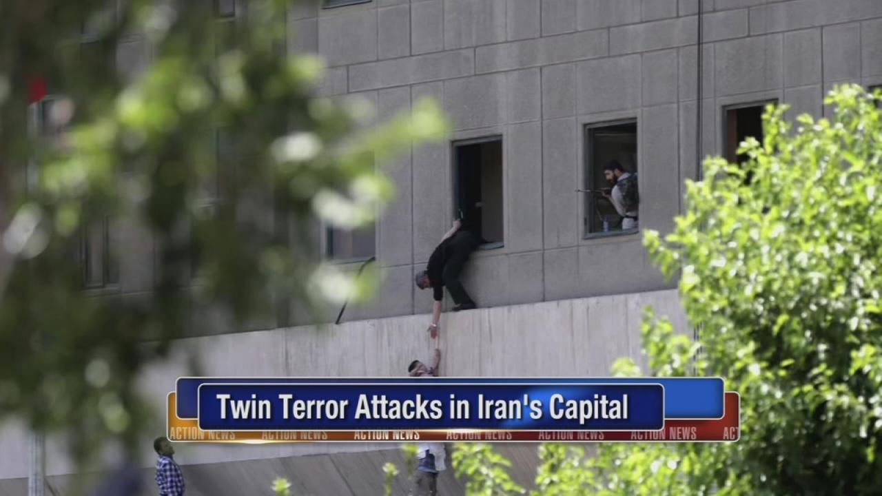IS-claimed attacks on Irans parliament, shrine kill 12