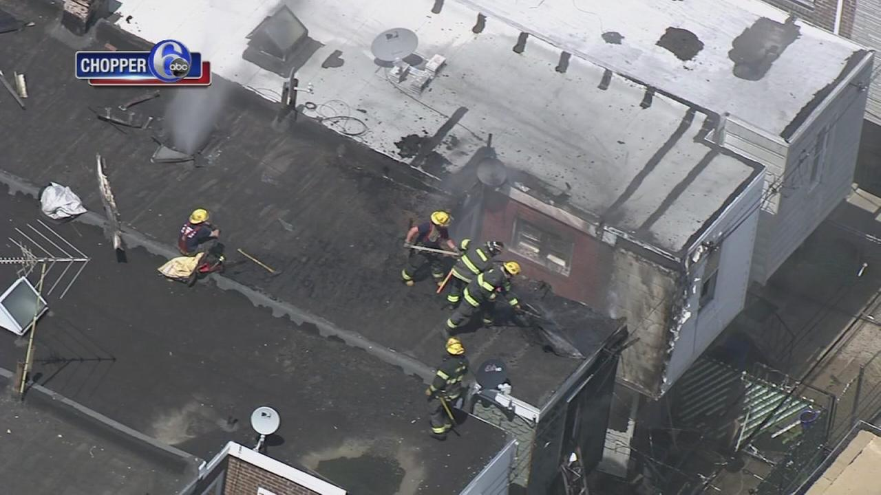 Port Richmond house fire seen as far as Penns Landing