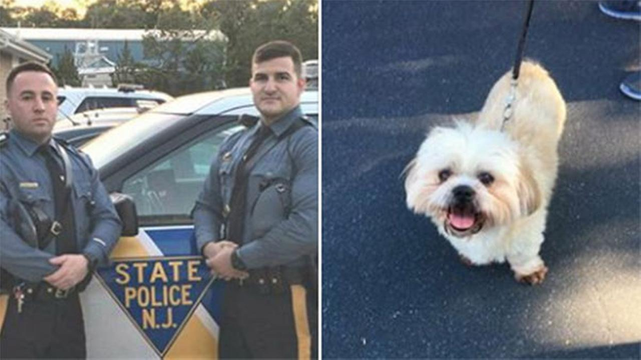 New Jersey State Police troopers save child, dog locked in hot car