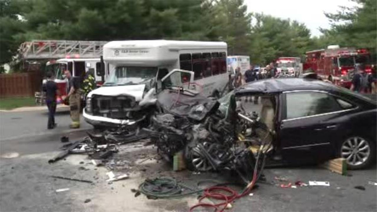Car, senior center van collide in Delaware; 8 hurt