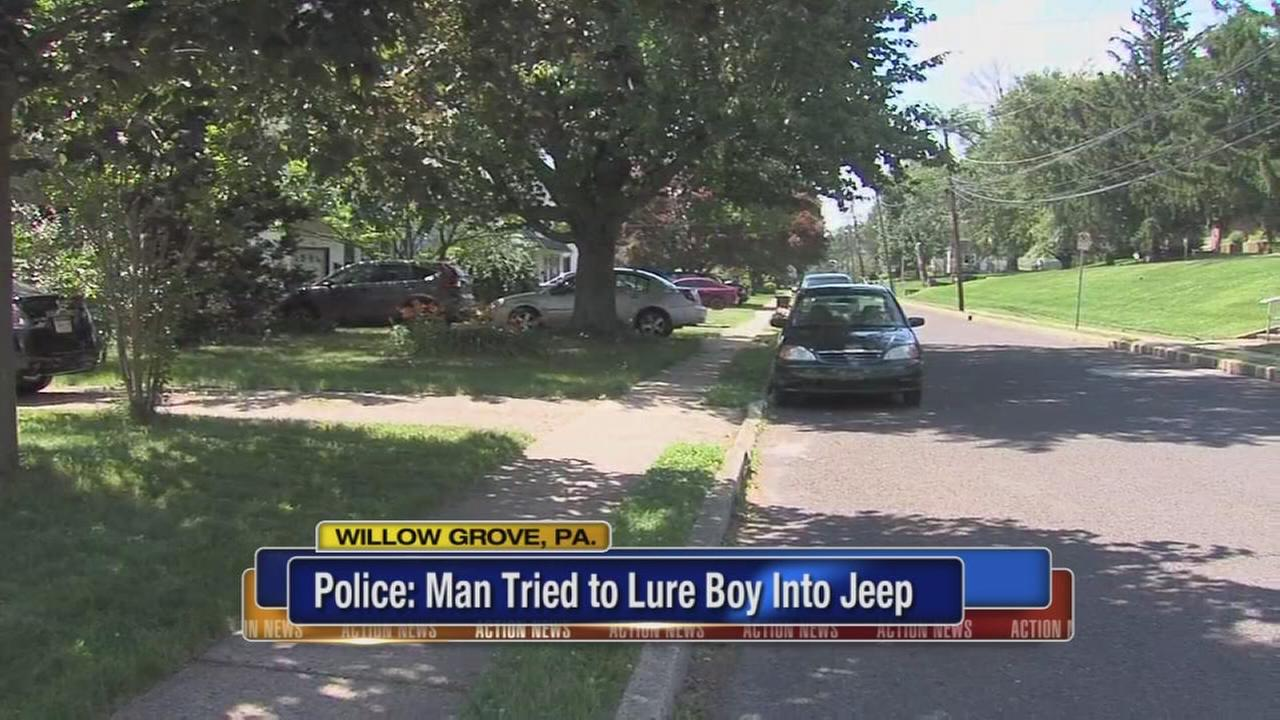 VIDEO: Police investigate attempted luring in Willow Grove