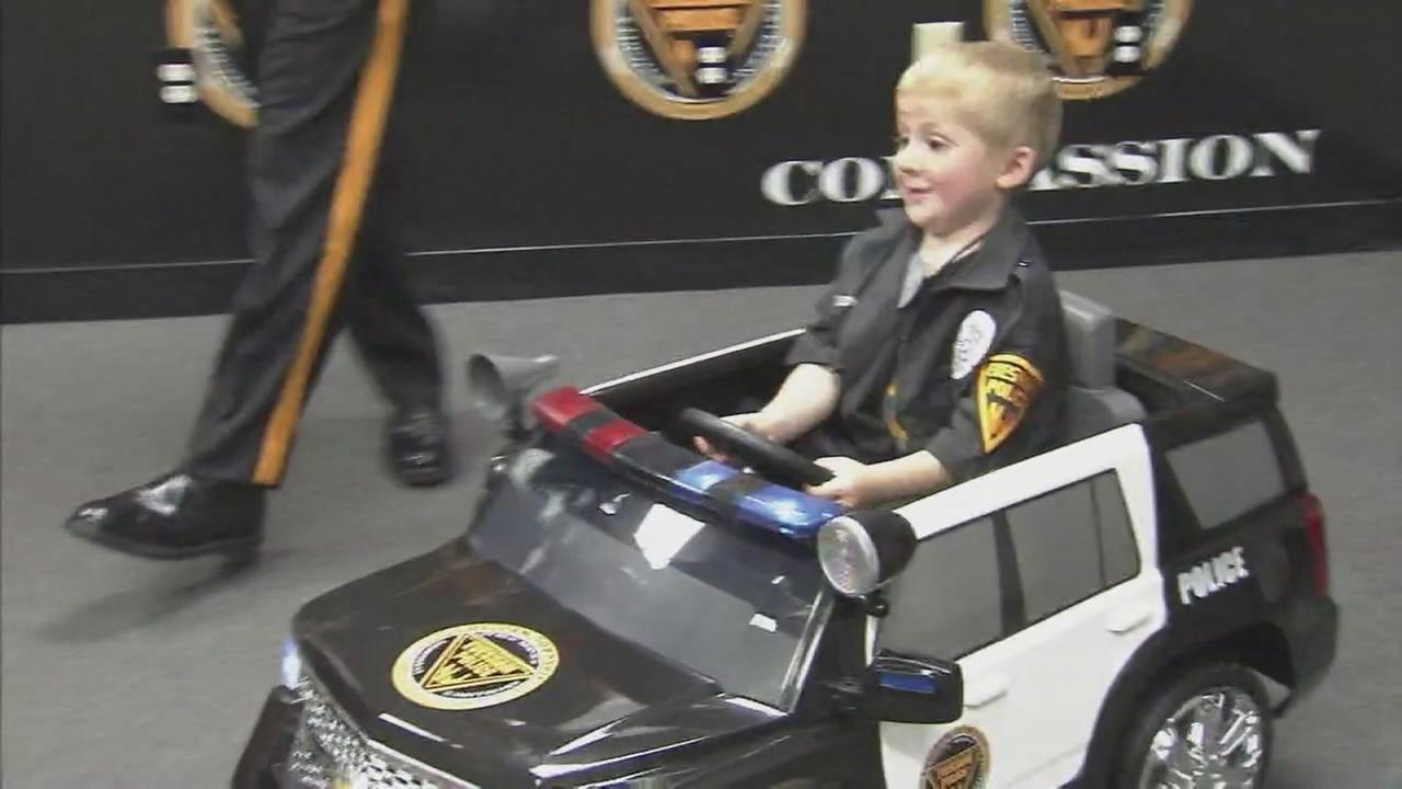 Chase Gilchrist becomes honorary police officer